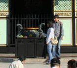 孔子廟: 願い事を書いて入れるところ