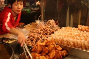 士林夜市: 揚げ菓子屋さん