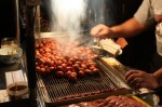 士林夜市: 台湾香腸の屋台