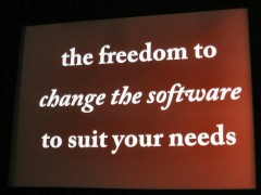 WordCamp 2009: the freedom to change the software to suit your needs