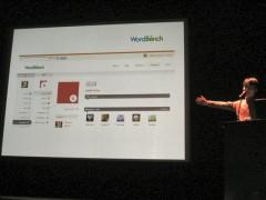 WordCamp 2009: WordBench を紹介する三好隆之さん