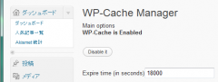 WP-Cache Manager: expire time