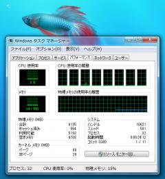 Windows 7: タスクマネージャ