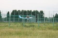 調布飛行場: JA3995 着陸態勢: スポーツ 1/800sec F3.5 評価測光 EV+0 ISO100 90mm EF-S55-250mm AF:AIサーボ WB:オート