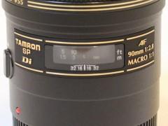 TAMRON SP AF 90mm F/2.8 272E: マクロ倍率目盛り指標
