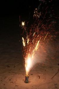 打ち上げ花火: 火線が散った例 Part2