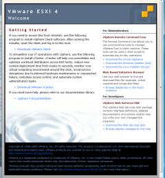VMware ESXi: 4.0: Getting Started