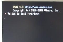 ESXi: Failed to load lvmdriver
