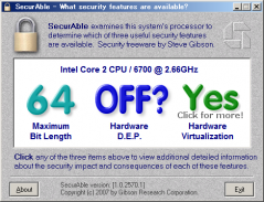 SecurAble: Hardware D.E.P. is off?