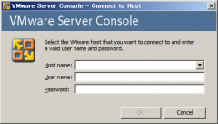 VMware Server Console: Windows Server 2008 R2 上でのログイン画面