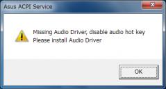 ASUS ACPI Driver: Missing Audio Driver