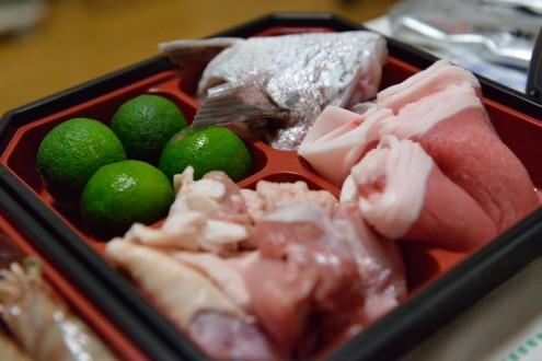 山田家: うどんすき: 肉類