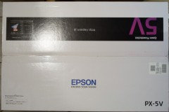 EPSON PX-5V: 箱: 閉じた状態