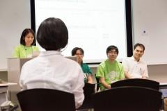WordCamp Tokyo 2013: 質問者の肩越しにプレゼンターの皆さん