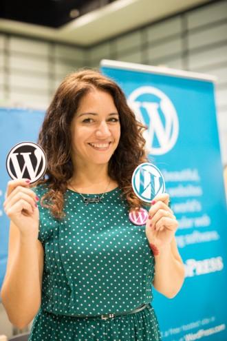 WordCamp Tokyo 2013: サラ・ロッソ (Sara Rosso) と Wordcamp ロゴ