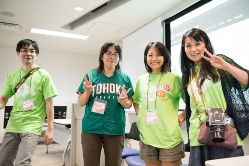 WordCamp Tokyo 2013: Odyssey (おで) さん, 五十嵐和恵さん, 高野直子さん, 額賀順子さん