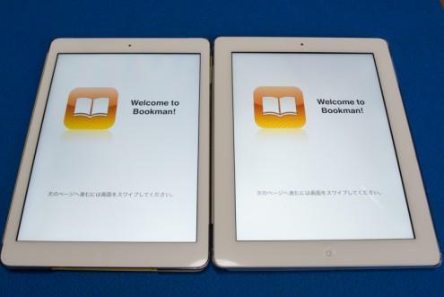 iPad Air: iPad (2012年モデル): ディスプレイ