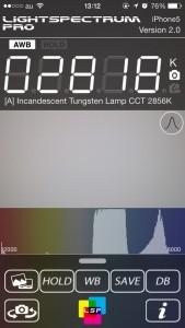 Light Spectrum Pro で iPad Air の液晶を計測