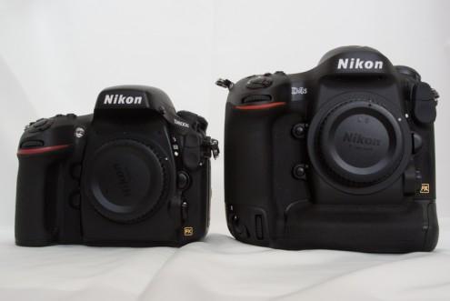Nikon D800E vs. Nikon D4S:  正面