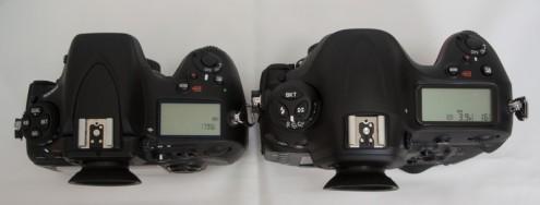 Nikon D800E vs. Nikon D4S:  上面