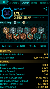 Ingress: Level 9