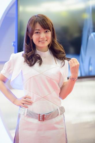 東京モーターショー 2015: 女性コンパニオン: ミツバ 夏山りか