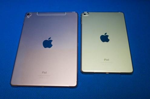 iPad Pro 9.7インチ vs. iPad mini 4: 背面