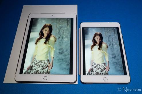 iPad Pro 9.7インチ True Tone なし vs. iPad mini 4