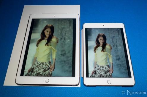 iPad Pro 9.7インチ True Tone vs. iPad mini 4