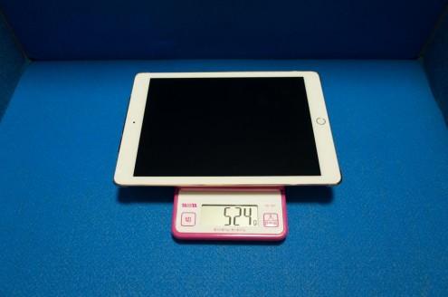 iPad Pro 9.7インチ + Elecom シェルカバー TB-A16PV2CR 重量