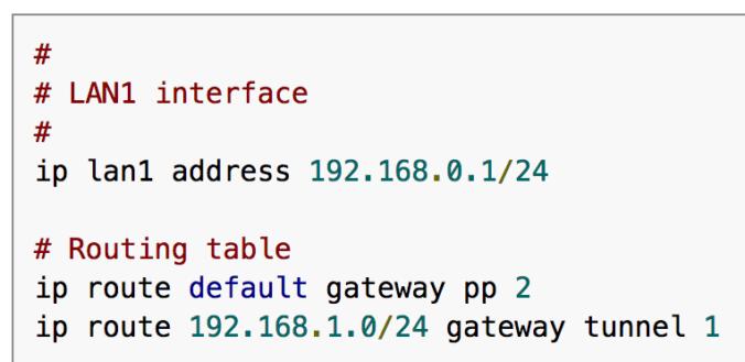 ヤマハ RTX ルータの設定を Google Code Prettify で highlight