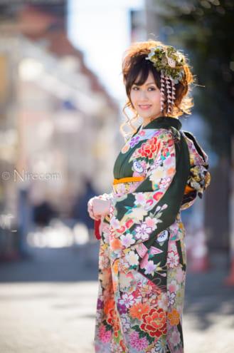 全東京写真連盟: 新春晴れ着撮影会: わたしの街
