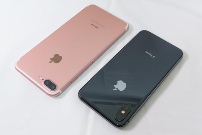 iPhone 7 Plus vs. iPhone X: 背面