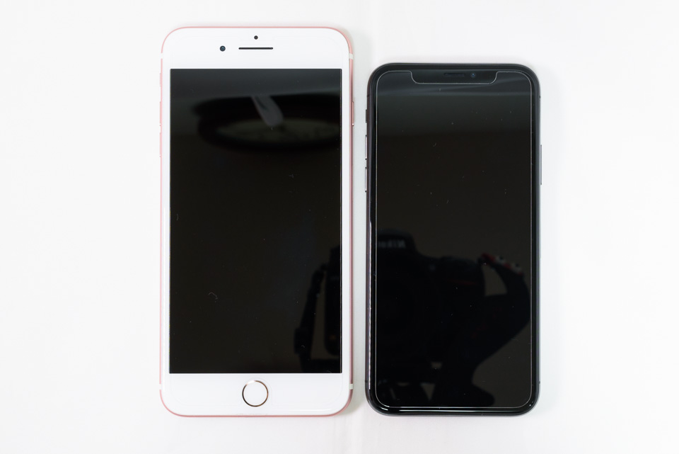 iPhone 7 Plus vs. iPhone X: 正面