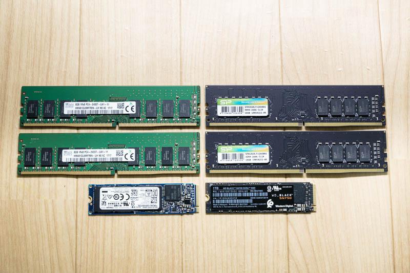 DELL Alienware: SSD / Memory 新旧比較