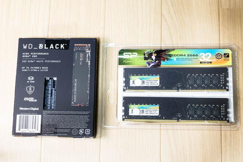 WD-Black / シリコンパワー DDR4 2666 16GB x 2