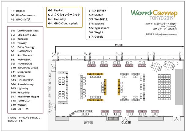 WordCamp Tokyo 2019: スポンサーブース